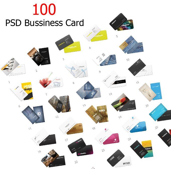 طرح لایه باز 100 کارت ویزیت - Collection of 100 PSD Business Card