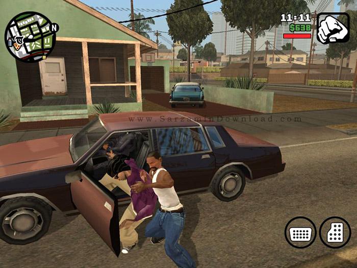 بازی جی تی ای برای اندروید Gta San Andreas 1 08 Android