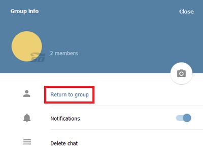 لفت با آموزش بازگشت به گروه های پاک شده در تلگرام
