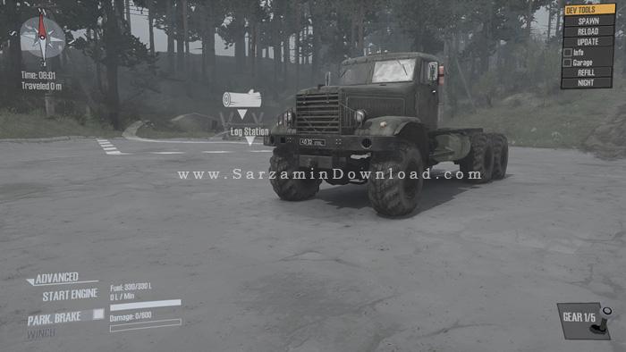 بازی رانندگی ماشین سنگین (برای کامپیوتر) - Spintires MudRunner PC Game