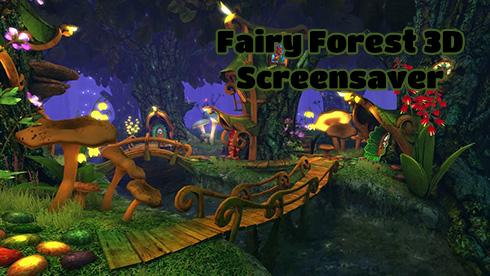 نرم افزار اسکرین سیور سرزمین فرشته ها (برای ویندوز) - Fairy Forest 3D Screensaver Windows