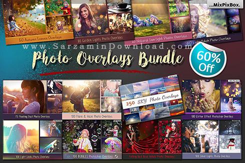 مجموعه عظیم اکشن های فتوشاپ - CM 962 Photo Overlays Bundle