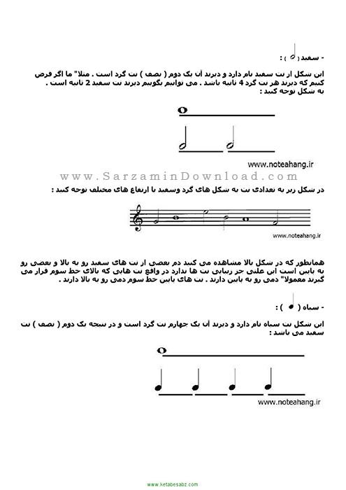 کتاب آموزش تئوری موسیقی