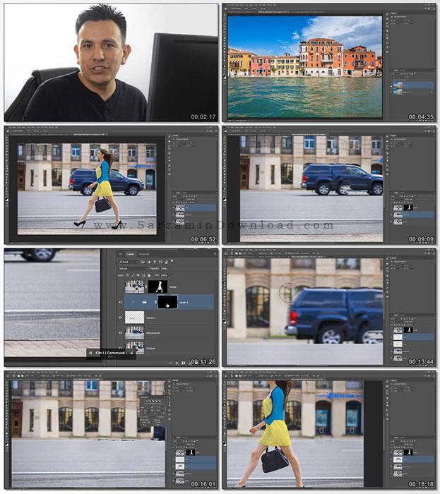 آموزش حذف قسمتی از عکس با فتوشاپ (فیلم آموزشی)