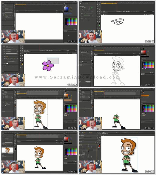 آموزش انیمیشن سازی با Adobe Animate CC (فیلم آموزشی)
