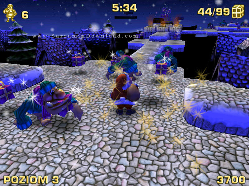 بازی بابانوئل (برای کامپیوتر) - Santa Claus in Trouble PC Game