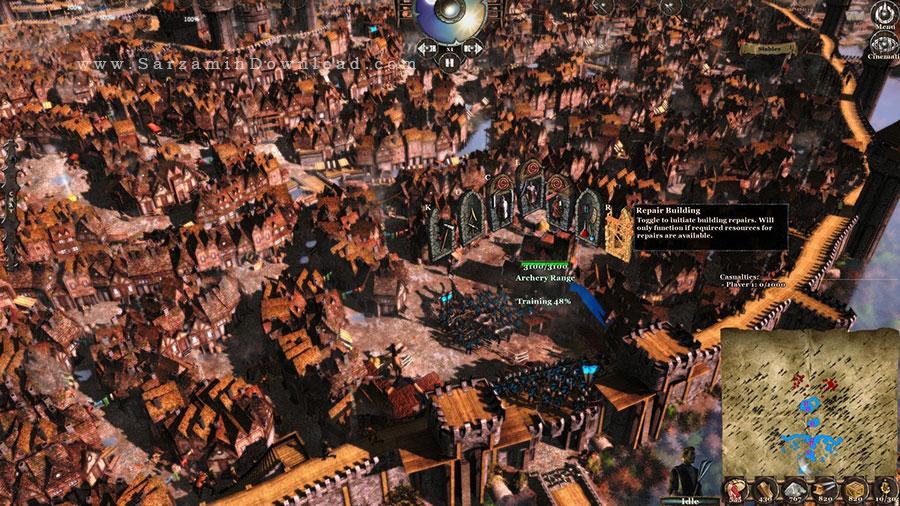 بازی جنگ های قرون وسطی (برای کامپیوتر) - Medieval Kingdom Wars PC Game