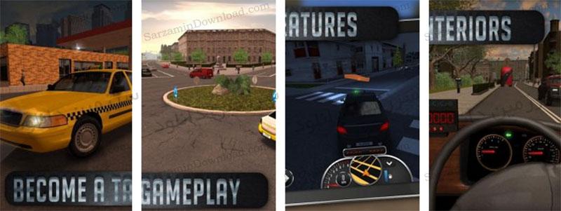 بازی شبیه ساز تاکسی (برای اندروید) - Taxi Sim 2016 1.5.0 Android