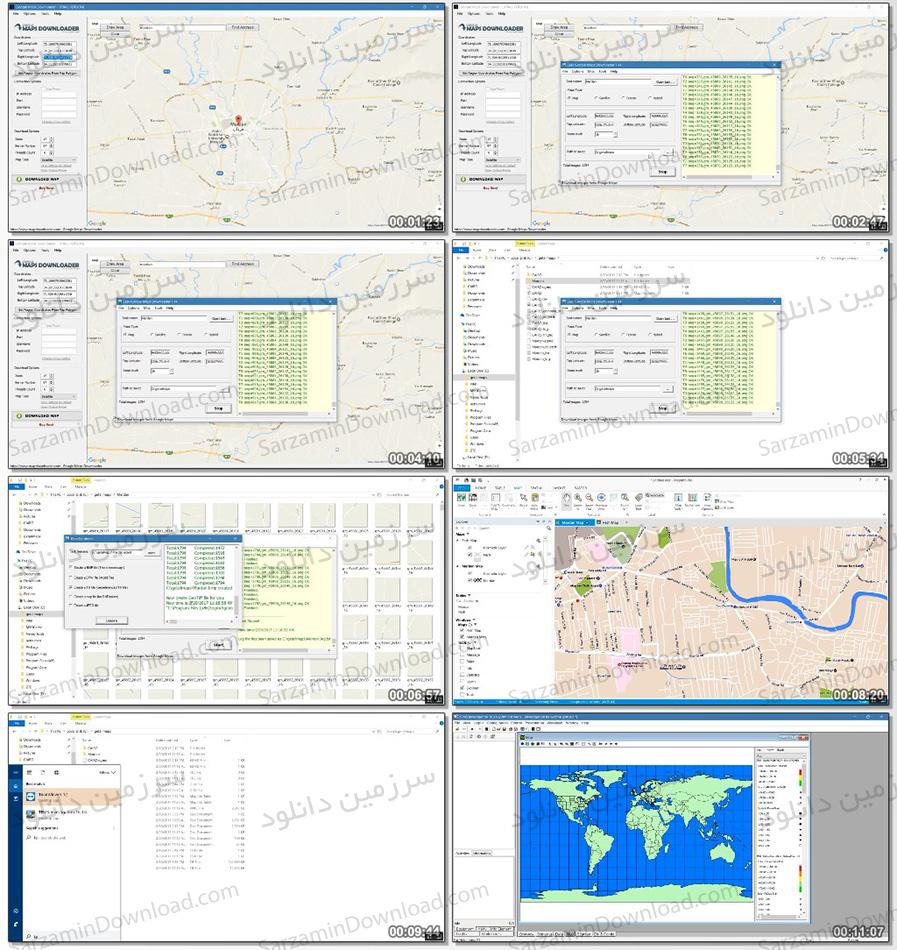 دانلود آموزش دانلود نقشههای گوگلمپ با استفاده از نرمافزار