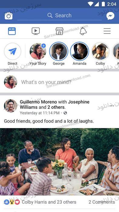 نرم افزار فیسبوک (برای اندروید) - Facebook 145.0.0.37.86 Android