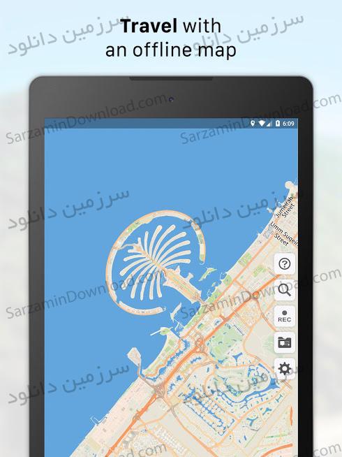 نرمافزار نقشه آفلاین (برای اندروید) - Galileo Offline Maps Pro 2.0.0 Android