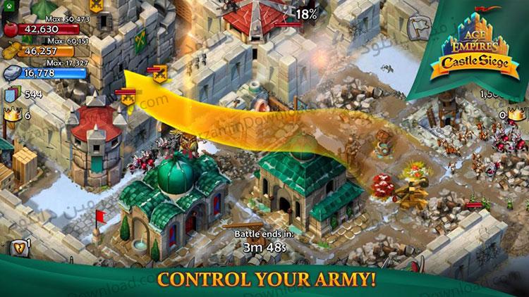 بازی عصر امپراطوری: محاصره قلعه (برای اندروید) - Age of Empires: Castle Siege 1.26.28 Android