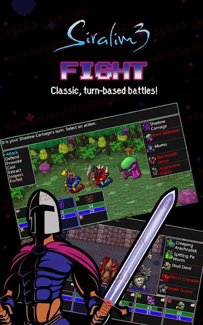 بازی سیرالیم 3 (برای اندروید) - Siralim 3 (Monster Taming RPG) 1.4.5 Android