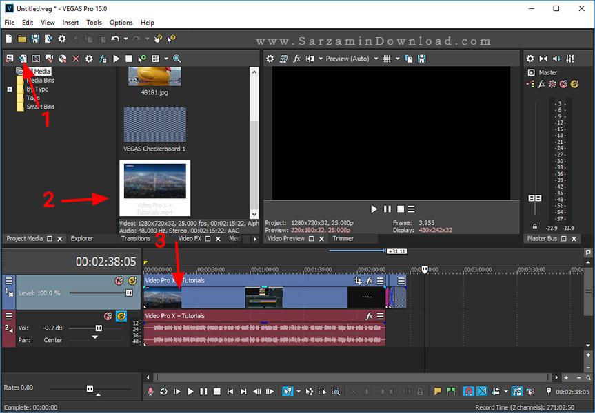 آموزش نرم افزار ویرایش حرفه ای فیلم با نرم افزار Magix VEGAS Pro