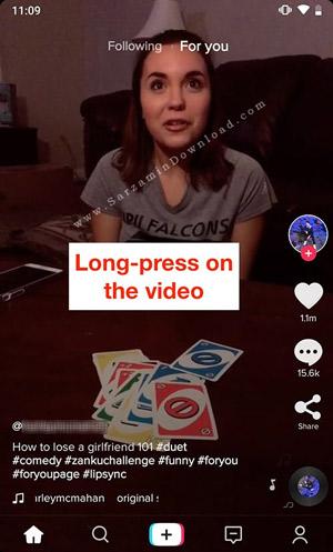 آموزش دانلود ویدیوهای نرم افزار TikTok