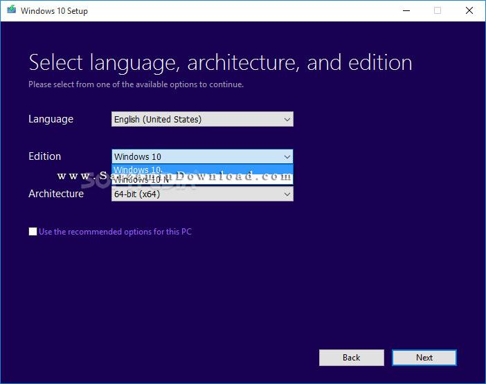نرم افزار ارتقا سیستم عامل به ویندوز 10 (برای ویندوز) - Media Creation Tool 10.0.15063 Windows