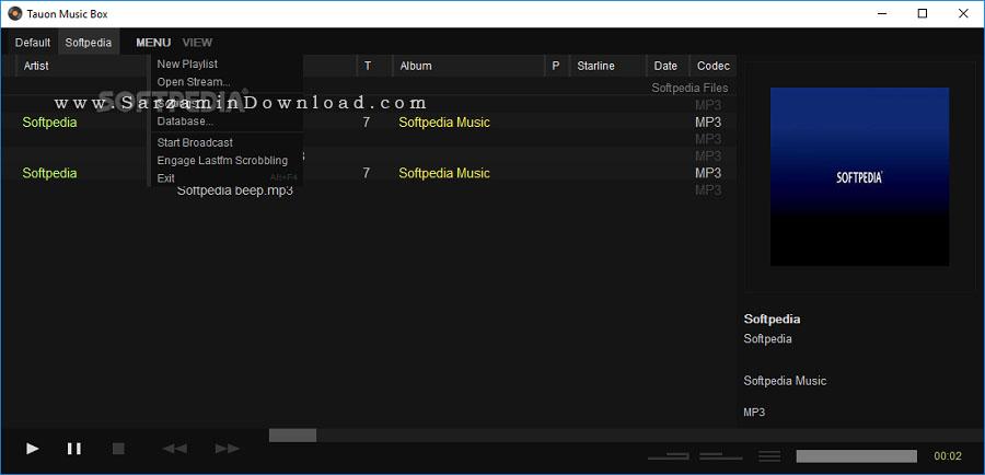 نرم افزار پخش فایل های صوتی (برای ویندوز) - Tauon Music Box 2.8.3 Windows
