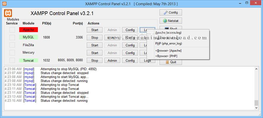 نرم افزار سرور مجازی زمپ (برای ویندوز) - XAMPP 7.2.10 Windows