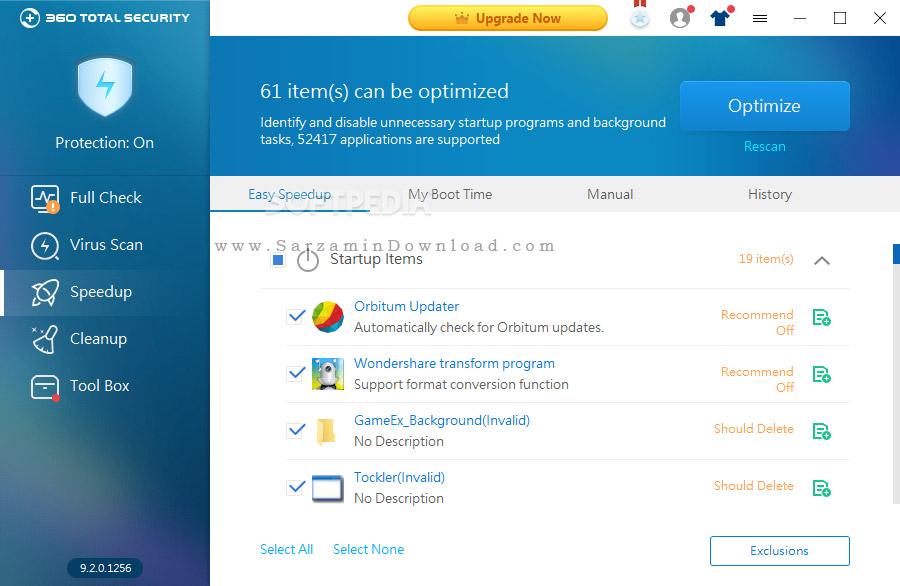 نرمافزار امنیتی 360 (برای ویندوز) - 360Total Security 10.2.0.1281 Windows