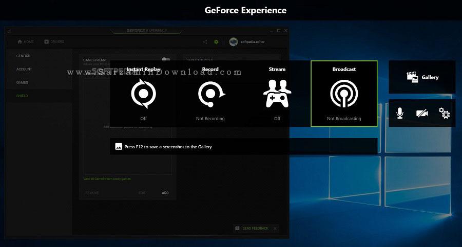 نرم افزار بهینه سازی کارت گرافیک های NVIDIA (برای ویندوز) - NVIDIA GeForce Experience 3.18.0.102 Windows