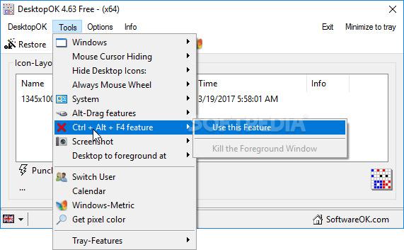 نرم افزار ذخیره و بازیابی وضعیت آیکون های دسکتاپ (برای ویندوز) - DesktopOK 8.66 Windows