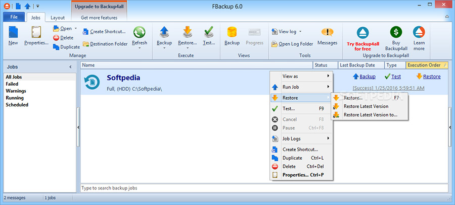 نرم افزار پشتیبان گیری از اطلاعات (برای ویندوز) - FBackup 8.9 Build 352 Windows