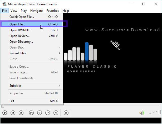 آموزش کار با نرم افزار Media Player Classic