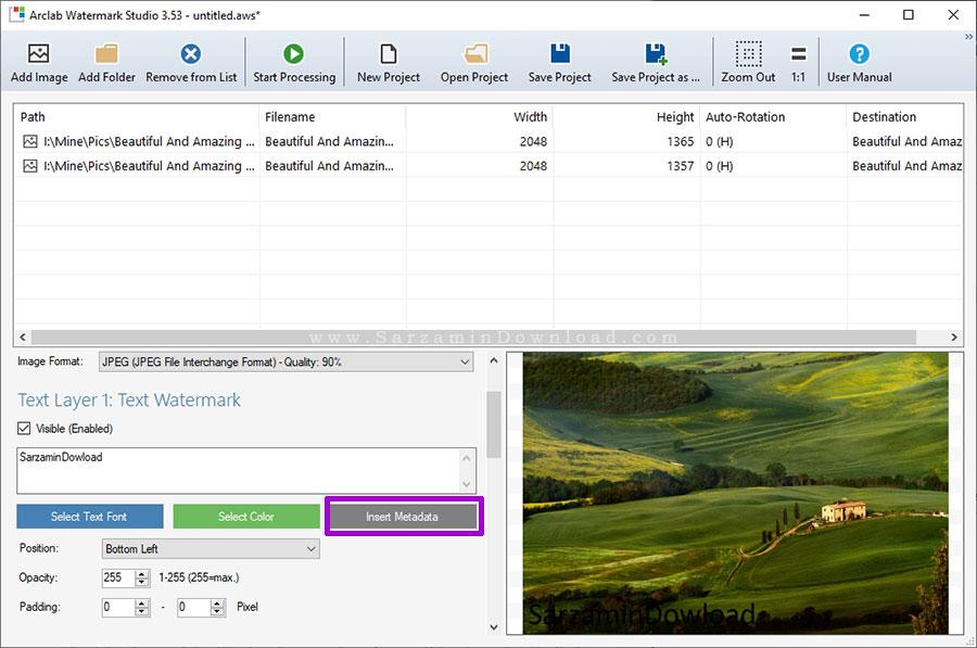 آموزش ساخت واترارک با استفاده از نرم افزار Arclab Watermark Studio