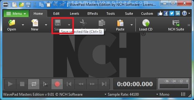 آموزش کار با نرم افزار WavePad Sound Editor Masters