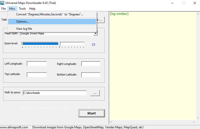 آموزش نرم افزار Universal Maps Downloader