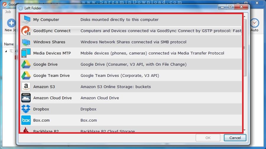 آموزش کار با نرم افزار Goodsync Enterprise